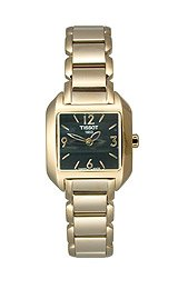 Tissot T-Wave Gold PVD Black Dial Women's Watch #T02.5.285.52