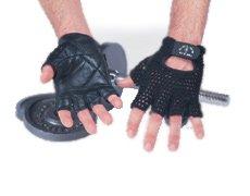 Golds Gym Mesh Back Glove Black Large by Golds Gym
