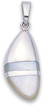 In argento Sterling e madreperla con ciondolo in argento, intarsiato 8384MOP, misura: 20 mm, spediti in confezione regalo di alta qualità in argento Sterling di prima classe della posta.