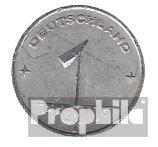 DDR (RDA) Jägernr: 1501 1950 e muy ya Aluminio 1950 1 pfennig ahre encendido Gear (monedas para los coleccionistas)