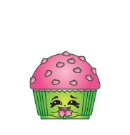 Shopkins Season 2 #2-045 Pink Mary Muffin (Ultra Rare)