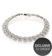 M&S Collection Platinum Plated Navette Bracelet