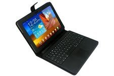 TPCromeer TouchPad Mouse Wireless Bluetooth Keyboard Folio Stand Case For Samsung Galaxy Tab P7510 P7500 and Samsung Galaxy Tab 2 10.1 inch P5100 P5110 P5113