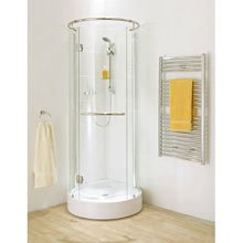 Round Corner Shower Enclosure With Hinged Door Amazon Co Uk Kitchen Amp Home
