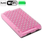 150Mbps Wireless WIFI 802.11b/g/n Router with Mobile Power Bank Function, Support 3G / AP / Multi-media Share (Pink)