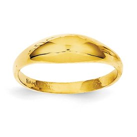 Genuine IceCarats Designer Jewelry Gift 14K Childs Polished Dome Ring Size 3.00