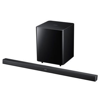 Samsung Hw-Fm55C Premium Slim Soundbar With Wireless Subwoofer And Hdmi Cable