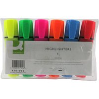 q-connect-highlighter-pen-assorted-wallet-of-6-kf01909