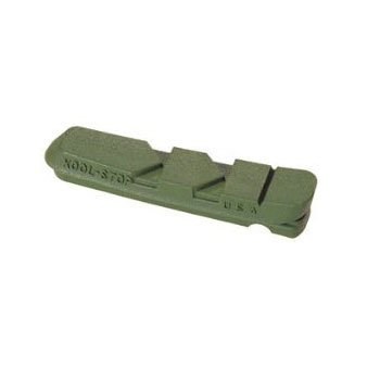 Buy Low Price Kool Stop Dura-2 Replacement Brake Pad Pair Ceramic Green (B004E3S934)