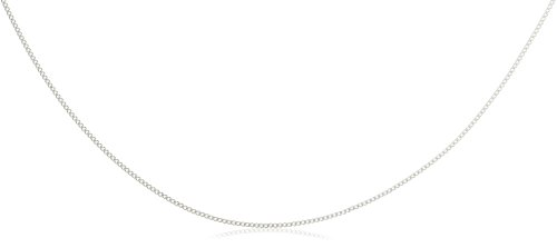 Plain Chain Necklace in 9ct White Gold 41 cm