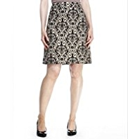 M&S Collection Baroque Jacquard Print Mini Skirt