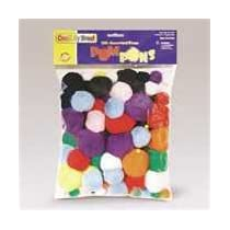 CHENILLE KRAFT Pompons Assortment Pack, Classroom Pack, 300 Pompons per Pack (Case of 12)