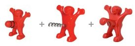 Happy Man Bottle Stopper, Corkscrew and Bottle Opener