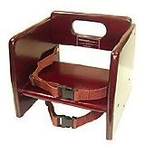 Winco CHB-703 Wooden Booster Seat, Mahogony - 1