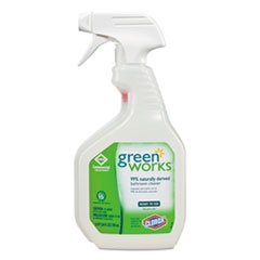 Green Works 00452 24 oz Natural Bathroom Cleaner Spray Bottle (Case of 12)