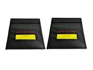 Bluecell 2 pcs Black Medium Size Lipo Battery Guard Sleeve/Bag for Charge & Storage - 1