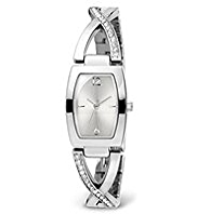 M&S Collection Diamanté Criss-Cross Analogue Bracelet Watch