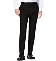 Crease Resistant Slim Fit Flat Front Trousers