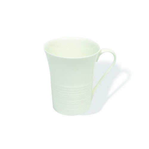 Maxwell And Williams Basics Cirque Flared Mug, 9.5-Ounce, White