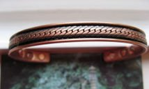 Men's Solid Copper 8 Inch Magnetic Cuff Bracelet #025