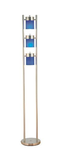 3-Light Adjustable Floor Lamp - Blue3-Light Adjustable Floor Lamp - Blue
