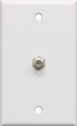 Ge 40050 White Video Cable Wall Plate