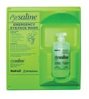 Sperian Emergency Eyewash - Eyesaline® Wall Stations Eyesaline Single 16 Oz Wall Station - Sold as 1 Kit