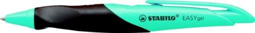 Stabilo EASYgel- Bolígrafo retráctil de punta rodante de gel para diestros, color azul y marrón