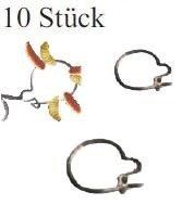10 Maggot Clips Madenclip für Medusa Rig Small