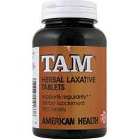 American Health Tam Natural Herb Laxative, 250 Tablets - 4 Pack
