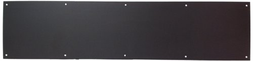 """Don-Jo 90 Metal Kick Plate, Oil Rubbed Bronze Finish, 32"""" Width X 12"""" Height, 3/64"""" Thick front-128926"""