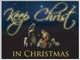 Keep Christ in Christmas Lawn Display (Black Design) - Yard Decoration