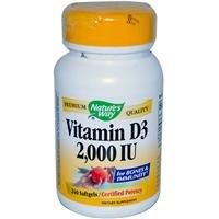 Natures Way Vitamin D-3, 240 Softgels, 2000 Iu