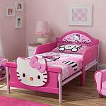 Hello Kitty 3D Toddler Bed - Pink