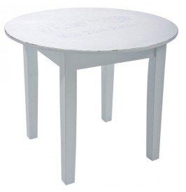 Declikdeco - Table enfant en bois bleu Cigogne