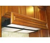 "Imperial 3030Ps1-Wh White Under Cabinet 635 Cfm 30"" Wide Flush Mount Under Cabinet Range Hood With Single Blower With Wood Front Ready Front Panel From The 3000 Collection"