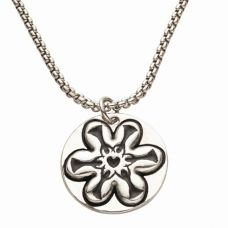 Pearl Token Flower Necklace