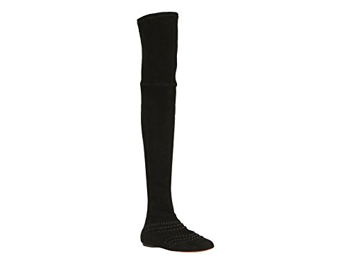 azzedine-alaia-black-flat-suede-thigh-boots-model-number-3h3w451cc45-size-5-uk