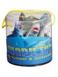 Warm Fuzzy Toys Sharks Tub