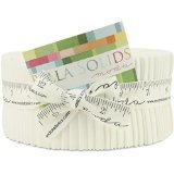 Moda Bella Solids White Bleached 9900-98 Jelly Roll, 40 2.5x44-inch Cotton Fabric Strips (Jelly Rolls Solids compare prices)