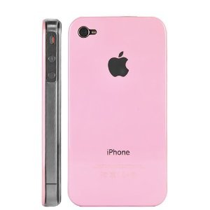 Unwired Accessories Polished Snap On Replicase Hard Crystal Air Jacket Case Cover for Apple iPhone 4G in Pink (not for Verizon)