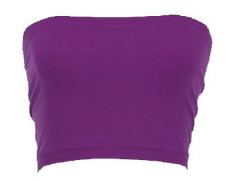 Seamless Summer Tube Top (One Size, Dark Purple)
