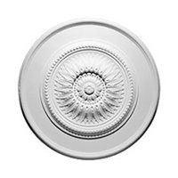 Focal Point 30 Inch Diameter Ceiling Medallion 85020 Sunflower Primed White Polyurethane