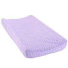 Babies'R'Us Plush Changing Pad Cover - Liliac Dot - 1