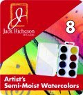Jack Richeson Non-Toxic Semi-Moist Artists Watercolor Paint, Set 8