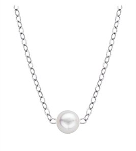 Pearl Necklace - Genuine Cultured Pearl Starter Necklace with One 5mm Pearls:CP1-5W