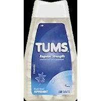 Tums Regular Strength Antacid And Calcium Supplement Peppermint 150 Chewable Tablets (Pack Of 3)