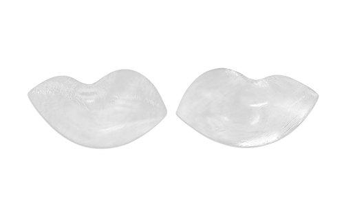SODACODA - 180g/Paar - weiche Wohlfühl Push Up Silikon BH Einlagen - Brust Vergrößerung für BHs, Badeanzüge und Bikinis - geeignet für A, B, C und D Körbchengröße - Transparent