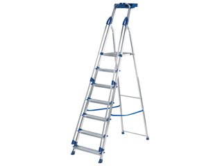 Blue Seal Platform Stepladders - 7 Tread
