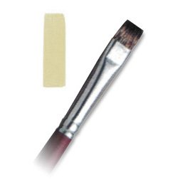Langnickel Royal Sable Short Handle Short Bright Brush - Artist Paint Brush - L5015-10 - 3 Pack